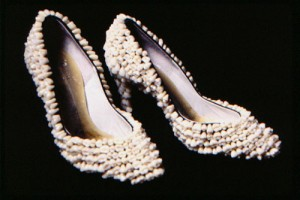 Tooth fairy's shoes made with teeth