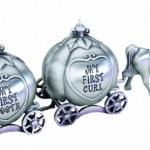 "Lillian Rose Keepsake Pewter Tooth and Curl Box, Fairytale Coach, 2"" x 5"""