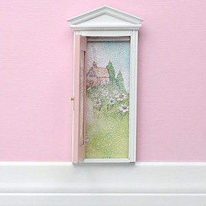 Tooth Fairy Door and Fairy Dust Gift Set (Pink)