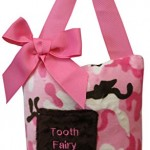 Caught Ya Lookin' Tooth Fairy Pillow, Pink Camouflage, Brown/White